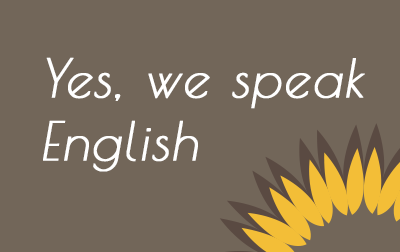 Yes, We speak English
